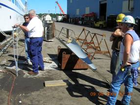 Inspection of repairs to the Block Island Ferry